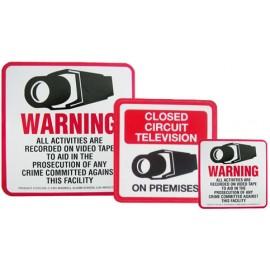 White Warning Signs