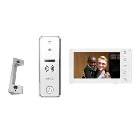 JE-D23 4-Wire Video Door station+ JE-2207  Intercom Monitor (White) w/ Wall Mount Bracket (optional)