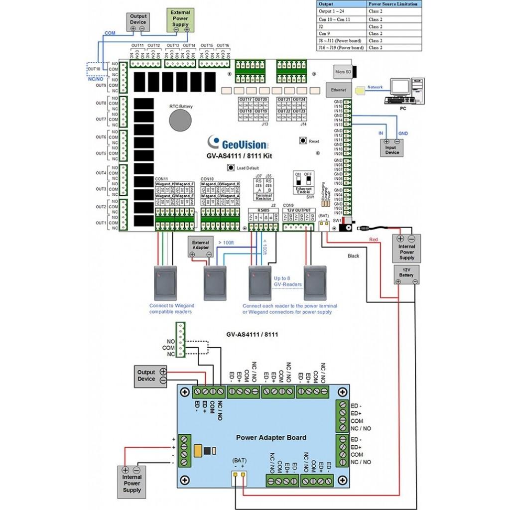 Gv As4111 Kit With Ul Certification Access Control Mini Intercom Circuit Diagram