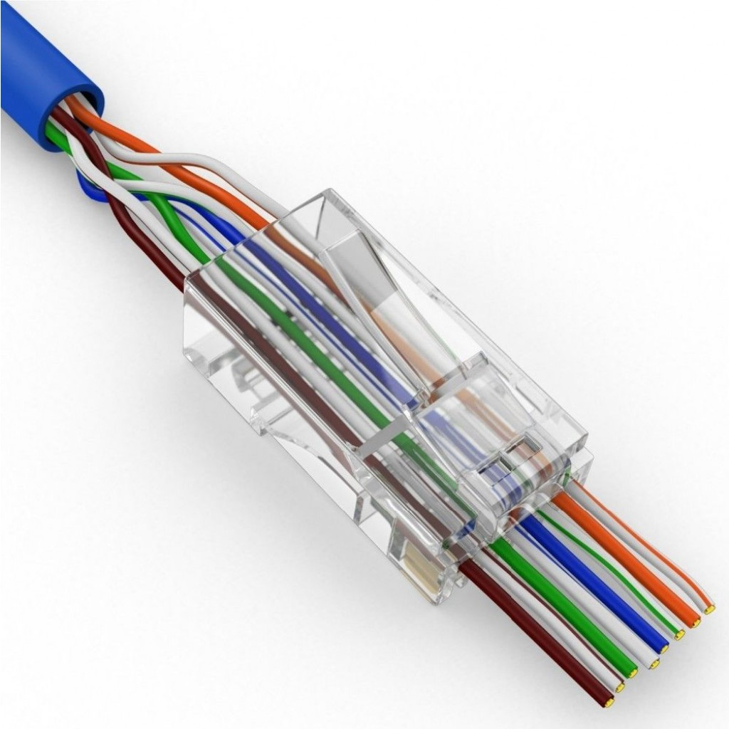 Ez Rj45 Cat5e Plus Connectors 100pcs Bag Cat 5 5e Jack Wiring The Depicted Image May Vary From Actual Product