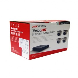 T7104Q1TA Hikvision 4-Channel 1080p HD-TVI Kit (DVR-1TB + 4 Cameras)