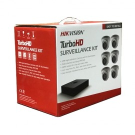T7108Q2TA Hikvision 8-Channel 1080p HD-TVI Kit (DVR-2TB + 6 Cameras)